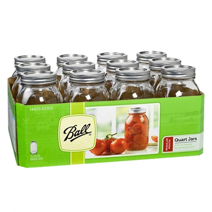 Ball Quart Regular Mouth Canning Jars