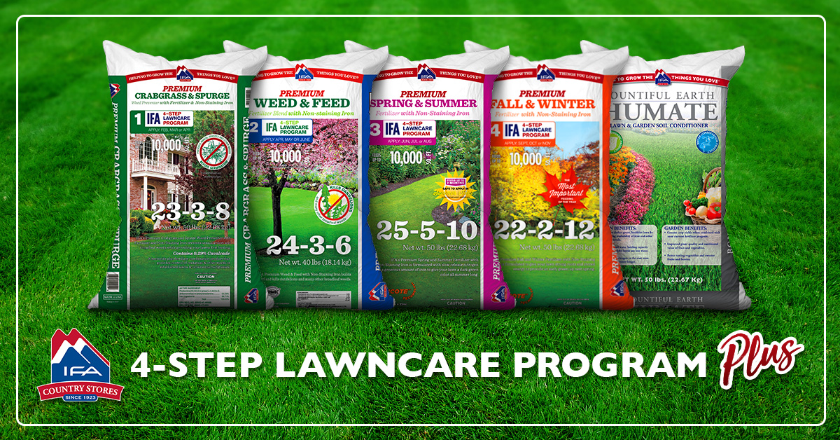 Have A Beautiful Lawn In Four Easy Steps Ifa Country Stores