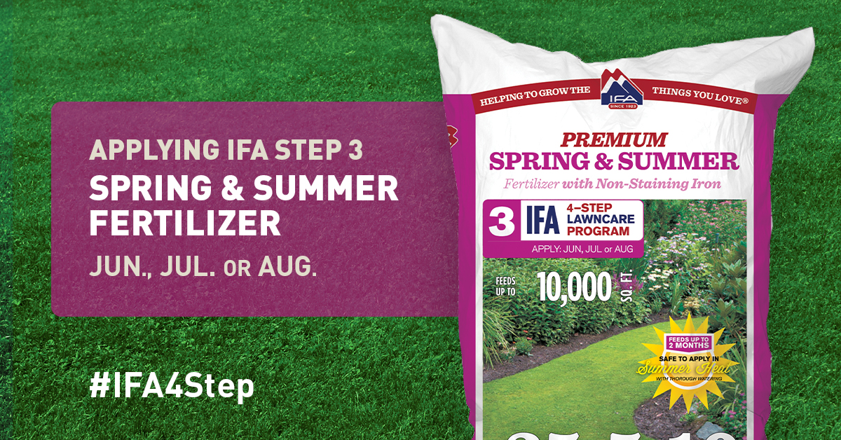 Spring Summer Fertilizer Step 3 To A Healthy Lawn Ifa Country