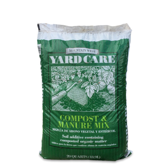 Mountain West Bark Steer Manure Compost Blend