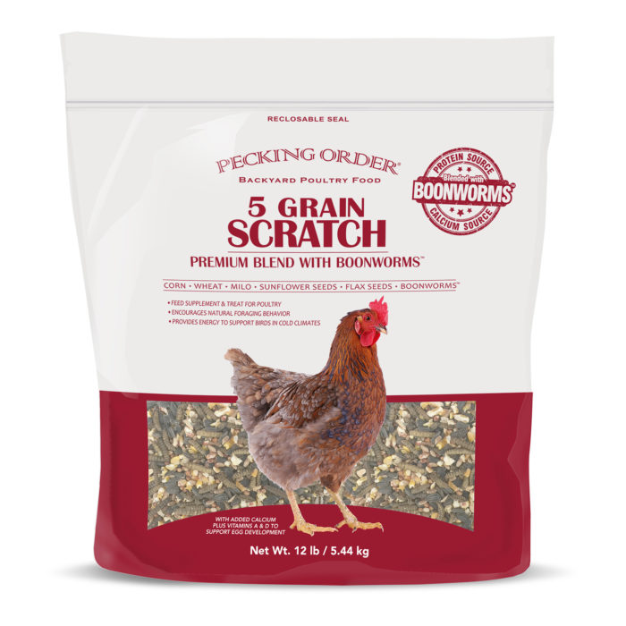 Pecking Order 5 Grain Scratch with Boonworms